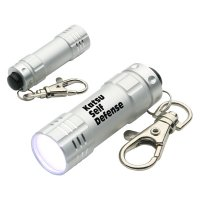 Personalized Bright Shine LED Keychains  - Silver