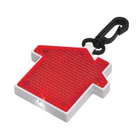 Personalized House Shape Keychains With LED Blinking Light  - Red