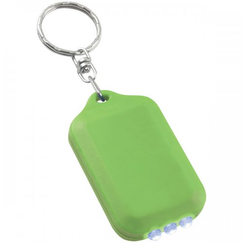 Personalized Solar Flashlight Keychains - Lime Green