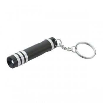 Personalized Versa Aluminum LED Light With Bottle Opener & Split Ring Keychains - Black
