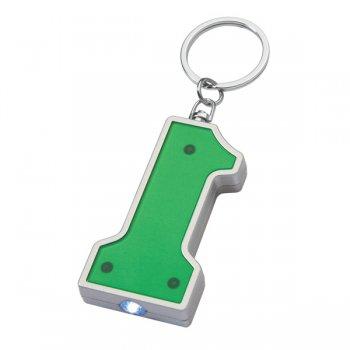 Promotional #1 Shape LED Keychains - Green