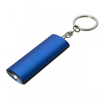 Promotional Aluminum Flashlight Keychains - Blue