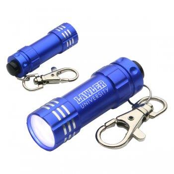 Promotional Bright Shine LED Keychains  - Blue