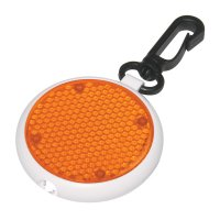 Promotional Dual Function LED Blinking Light Keychains - Orange