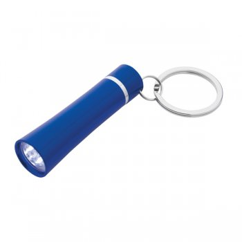 Promotional Envoy Aluminum LED Light Keychains - Blue