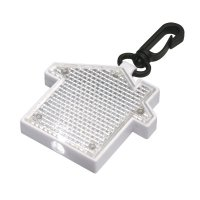 Promotional House Shape Keychains With LED Blinking Light - Clear