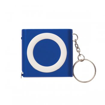 Promotional Revolution Tape Measure Keychains - Blue