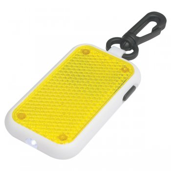 Promotional Tri-Function Blinking Light Keychains - Yellow
