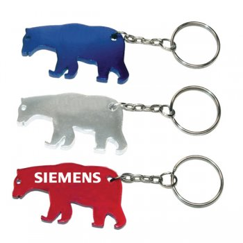 Custom Bear Shape Bottle Opener With Key Holder Keychains