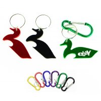 Customized Duck Shape Bottle Opener With Keychains Holder