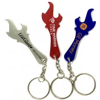 Personalized Torch Shape Bottle Opener With Keychains Holder
