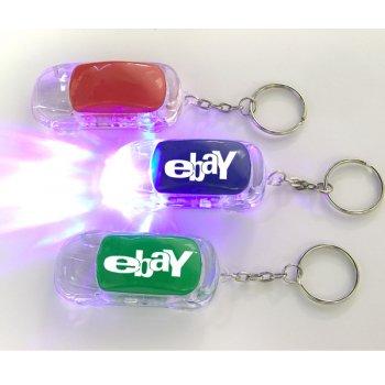 Promotional Car Shape LED Flashlight Keychains Holder