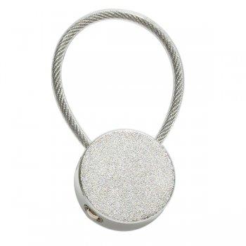 Custom Circular Metal Keychains - Silver