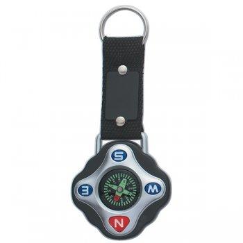 Custom Compass Keychain Rings - Black