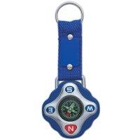 Custom Compass Keychain Rings - Blue