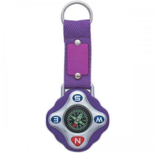 Custom Compass Keychain Rings - Purple