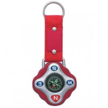 Custom Compass Keychain Rings - Red