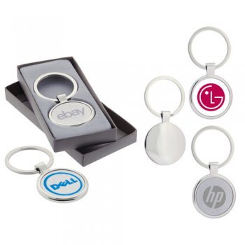Custom Imprinted Anello Satin Metal Keychains
