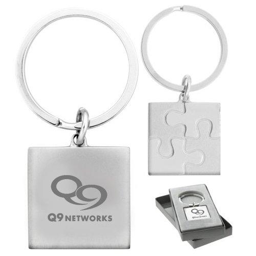 Custom Imprinted Puzzle Metal Keychains