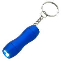 Custom Mini Aluminum LED Light Keychains - Blue