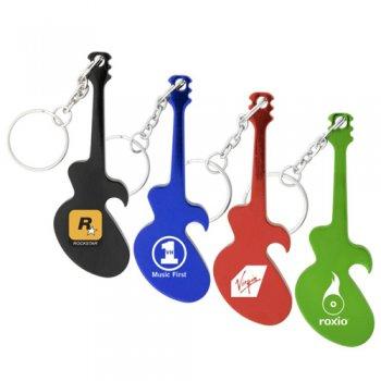 customized guitar shape bottle opener metal keychains metal keychains. Black Bedroom Furniture Sets. Home Design Ideas