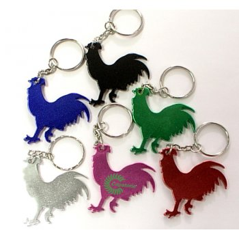 Customized Rooster Shape Bottle Opener Keychains