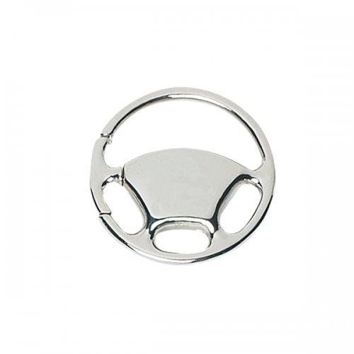 Customized Wheel Metal Keychains - Silver