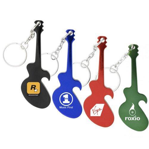 customized guitar shape bottle opener metal keychains. Black Bedroom Furniture Sets. Home Design Ideas