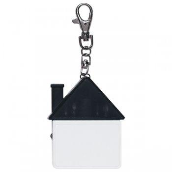 Personalized House Shape Tool Kit Keychains - Translucent Black