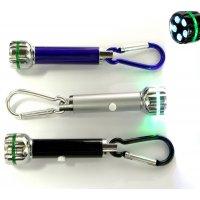 Personalized Jumbo Size LED Flashlight With Carabiner Keychains