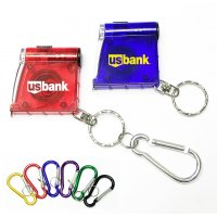 Personalized Tape Measure With LED Flashlight Keychains