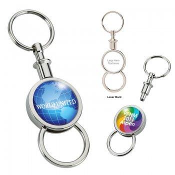 Promotional Barriga Separating Metal Keyrings