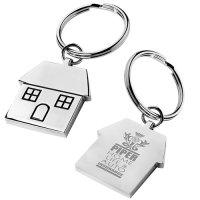Promotional House Shape Metal Keytag