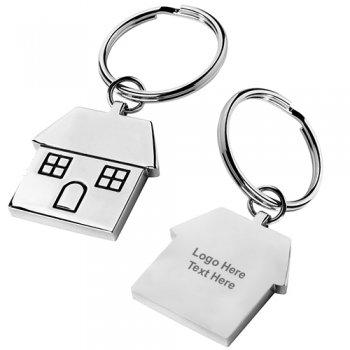 House Shape Metal Keytag