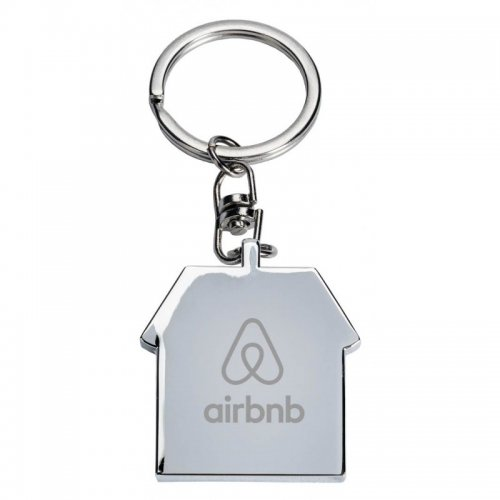 Promotional House Shaped Casa Metal Keychains
