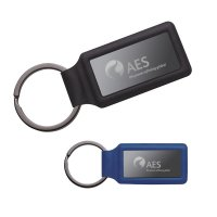 Promotional Leatherette Rectangle Keychains