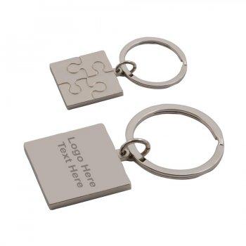Promotional Logo Puzzle Metal Keytag