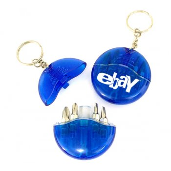 Promotional Mini 4-in-1 Screwdriver Tool Set Keychains