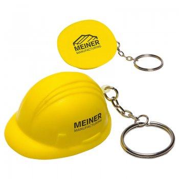 Custom Hard Hat Stress Reliever Keychains