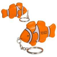 Custom Imprinted Clown Fish Stress Ball Keychains