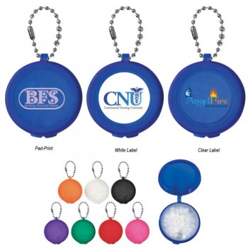 Customized Round Keychain With Mints