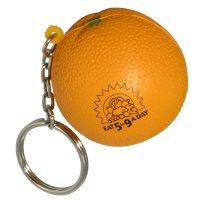 Custom Orange Shaped Stress Reliever Keychains