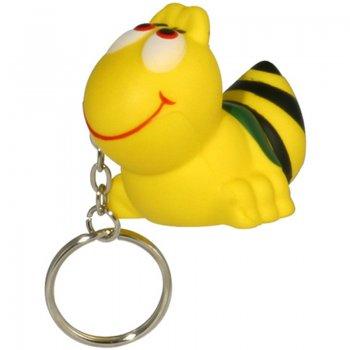 Custom Printed Bee Shaped Stress Ball Keychains