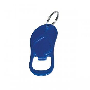 Custom Sandal Bottle Opener Keychain Rings - Blue
