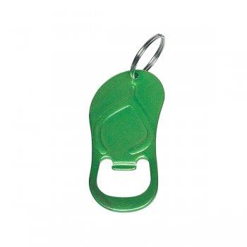 Custom Sandal Bottle Opener Keychain Rings - Green