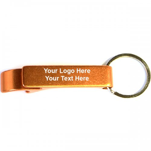 Personalized Deluxe Can & Bottle Opener with Carabiner Keychains