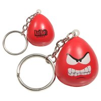 Promotional Angry Mood Maniac Stress Reliever Keychains