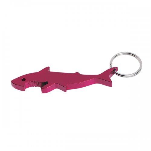 Promotional Shark Bottle Opener Keychain Rings Red