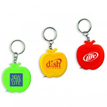 Custom Apple Shape Tape Measure Keychains