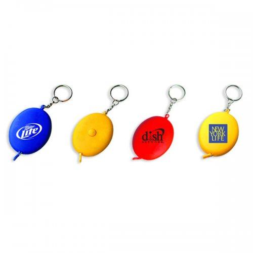Custom Oval 60 Tape Measure Keychains